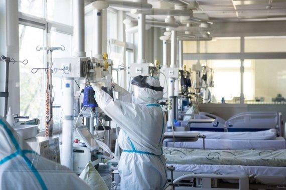 Rimvydo Ančerevičiaus nuotr./COVID-19 korpusas Panevėžio ligoninėje iš vidaus