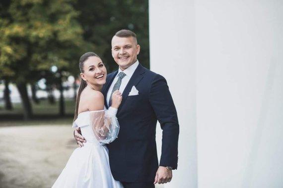 Jolantos Rutkauskienės nuotr./Kristina Šerkšnienė ir Andrius Šerkšnas