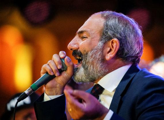 """""""Reuters""""/""""Scanpix"""" nuotr./Armėnijos opozicijos lyderis Nikolas Pašinianas"""