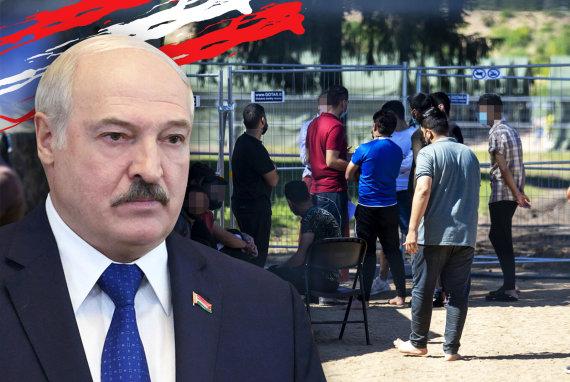 15min nuotr./Lukašenka; migrantai