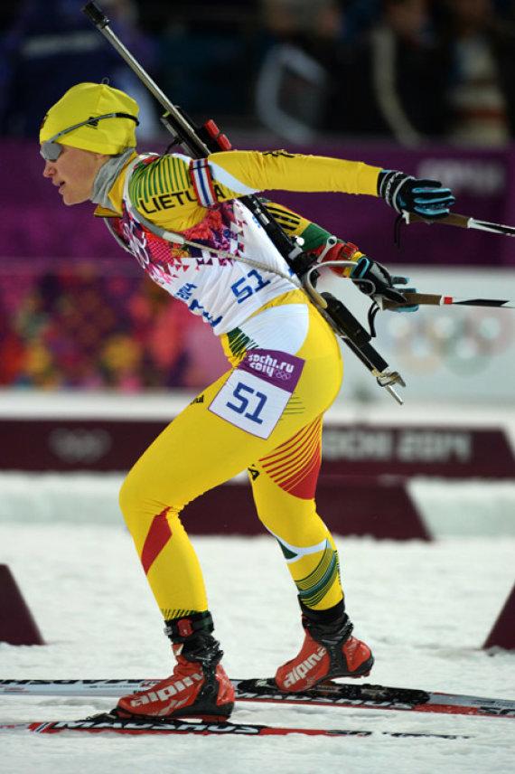 Alfredo Pliadžio nuotr./Biatlonininkė Diana Rasimovičiūtė startuos jau penktosiose žiemos olimpinėse žaidynėse.