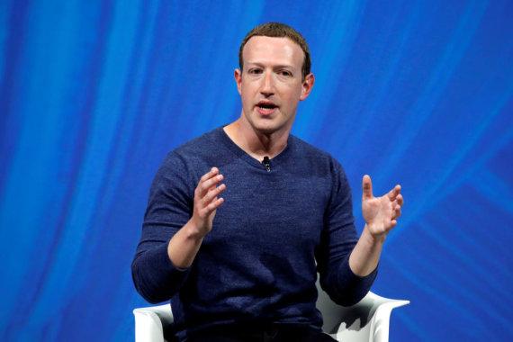 """Reuters""/""Scanpix"" nuotr./Markas Zuckerbergas"