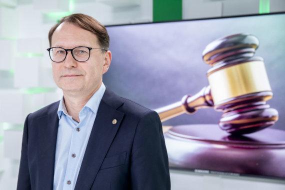 Luko Balandžio / 15min nuotr./Konstitucinio Teismo pirmininkas Dainius Žalimas