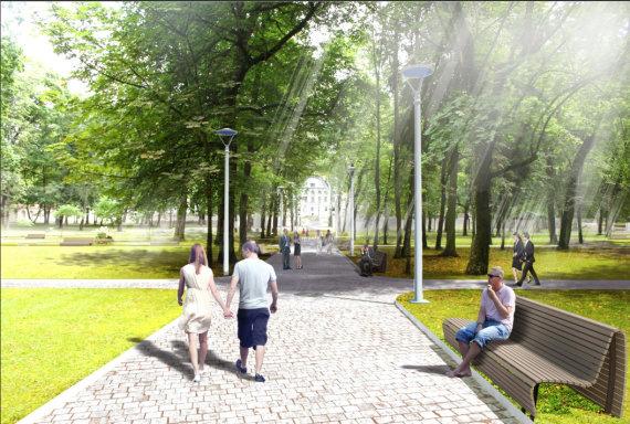 Vilniaus sav. vizualizacija/Taip ateityje turėtų atrodyti Sapiegos ligoninės teritorija