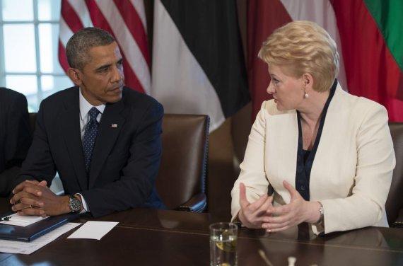 """""""Scanpix"""" nuotr./Baracko Obamos ir Baltijos šalių vadovų susitikimas"""
