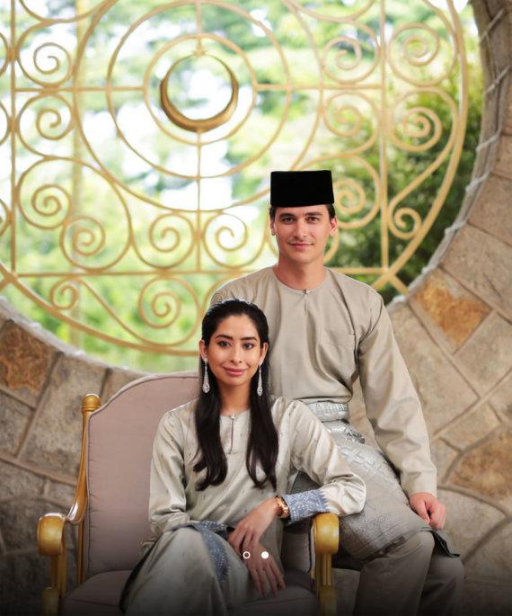 Vida Press nuotr./Princesė Tunku Tun Aminah ir jos vyras Dennisas Muhammadas Abdullah