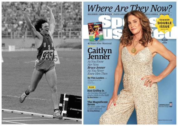 """""""Vida Press"""" ir """"Sports Illustrated"""" nuotr./Caitlyn Jenner pelnė aukso medalį 1976-ųjų olimpiadoje Monrealyje dar būdama vyru, Bruce'u Jenneriu"""
