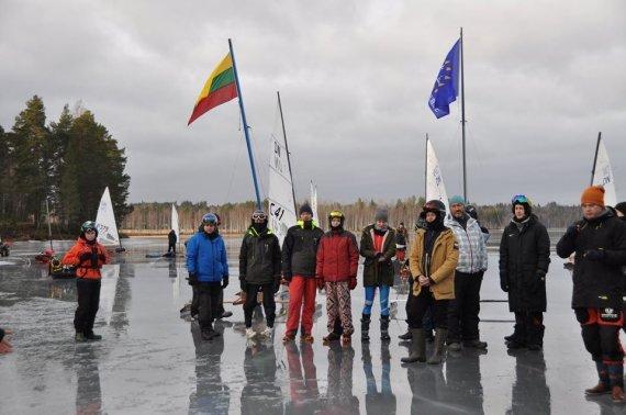 Arijaus Dambrausko nuotr./Ledo jachtų čempionato akimirka