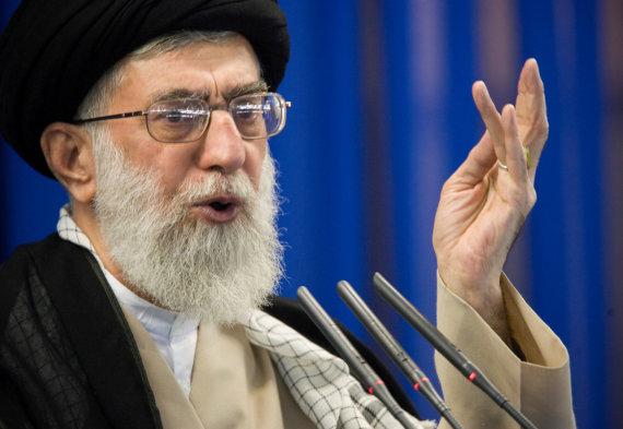 """""""Reuters""""/""""Scanpix"""" nuotr./Irano aukščiausiasis lyderis ajatola Ali Khamenei"""