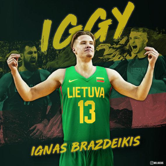 Martynas Jocius (@mr.jocius)/Ignas Brazdeikis nori atstovauti Lietuvos rinktinei