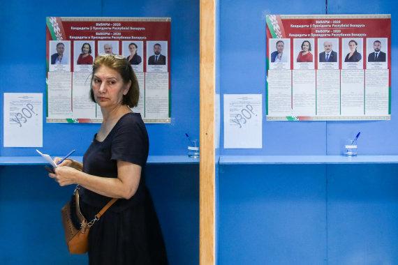 """""""Scanpix""""/ITAR-TASS nuotr./Balsavimas Baltarusijos prezidento rinkimuose"""