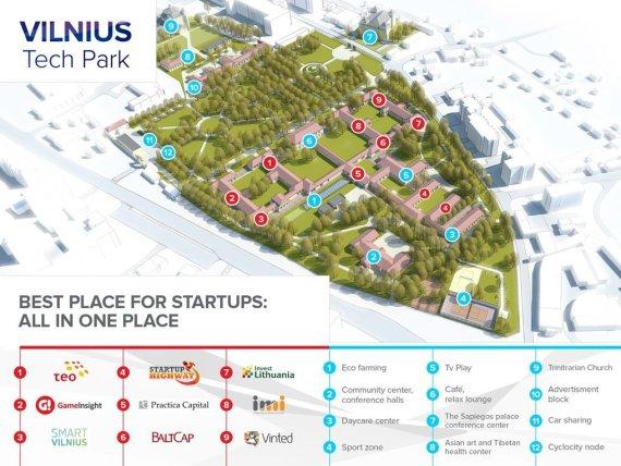 """Projekto vizualizacija/Vilnius planuoja įkurti analogų Europoje neturintį technologijų miestelį """"Vilnius Tech Park"""""""