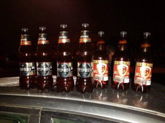 Kauno apskrities VPK nuotr./Kauno policijos užfiksuotas nelegaliai naktį parduotas alkoholis