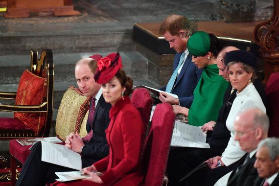 Vida Press nuotr./Princas Williamas, Kembridžo hercogienė Catherine, princas Harry, Meghan Markle