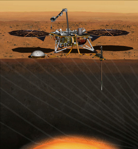 """""""Reuters""""/""""Scanpix"""" nuotr./Zondo """"Insight"""" užduotis - stebėti Marso seisminį aktyvumą"""