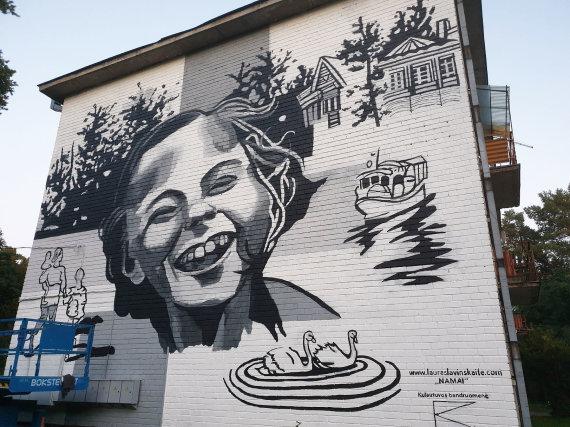 Astos Tamonienės nuotr. /Kulautuvą papuošė gatvės meno piešinys