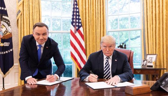 """""""Twitter"""" nuotr./ Andrzejus Duda ir Donaldas Trumpas"""