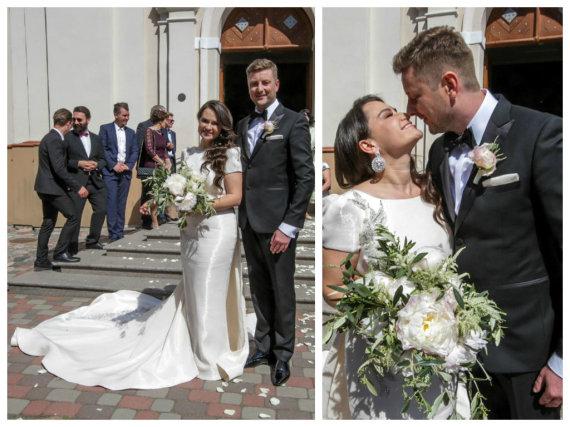 Vidmanto Balkūno / 15min nuotr./Evelinos Sašenko ir Giedriaus Statulevičiaus vestuvės