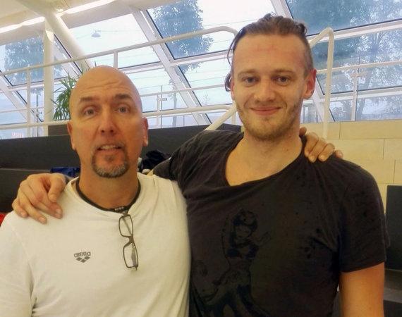 ltuswimming.com inf./Giedrius Titenis su naujuoju treneriu