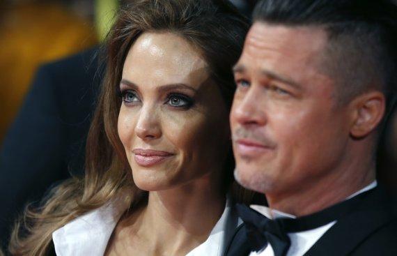 """""""Reuters""""/""""Scanpix"""" nuotr./Angelina Jolie ir Bradas Pittas"""