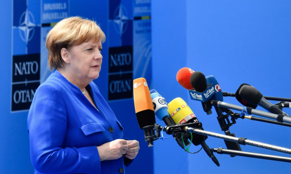 """AFP/""""Scanpix"""" nuotr./Angela Merkel Briuselyje"""