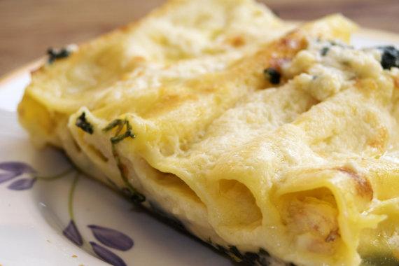 "Vida Press nuotr./Apkepas ""manicotti"" su sūriu"