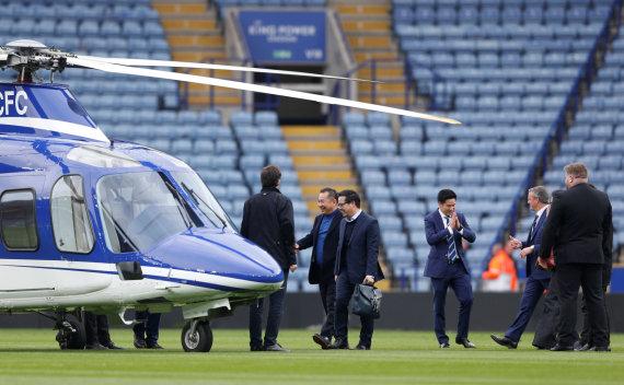 """""""Scanpix"""" nuotr./Lesteryje nukrito futbolo klubo savininko sraigtasparnis"""