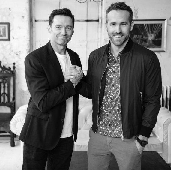 """""""Instagram"""" nuotr./Hugh Jackmanas ir Ryanas Reynoldsas"""