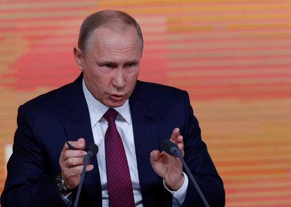 """""""Reuters""""/""""Scanpix"""" nuotr./Kasmetinė V.Putino spaudos konferencija"""