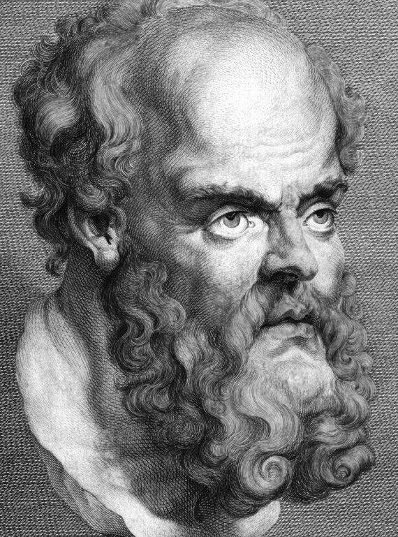 123RF.com nuotr./Sokratas 469-399 m. pr. Kr. T.Trotterio raižinys, 1788 m.