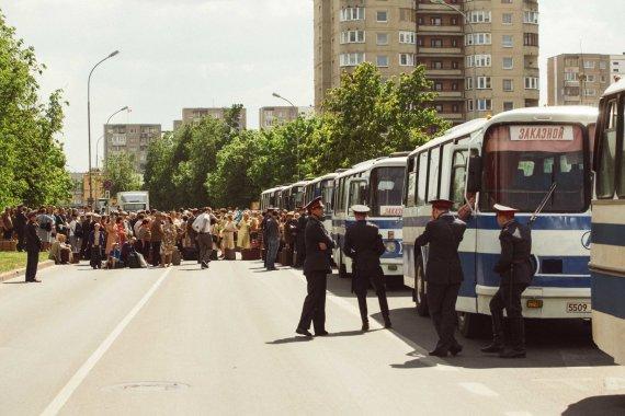 """Irmanto Gelūno / 15min nuotr./Fabijoniškėse filmuojamas serialas """"Černobylis"""""""
