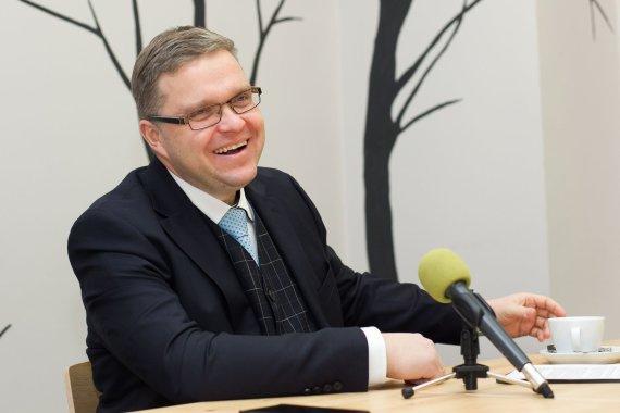 Irmanto Gelūno/15min.lt nuotr./Tiesioginėje 15min.lt konferencijoje – Lietuvos banko vadovas Vitas Vasiliauskas