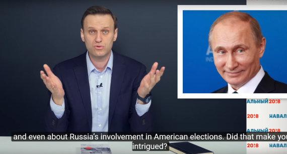 """""""Youtube.com"""" stop kadras/Aleksejus Navalnas"""