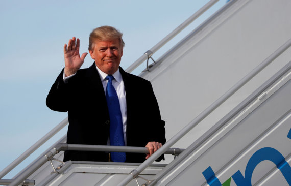 """""""Reuters""""/""""Scanpix"""" nuotr./Donaldas Trumpas atvyko į Šveicariją"""