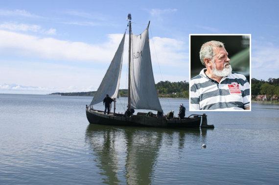 15min montažas / Jūrų muziejaus nuotr./Kuršių mariose nuskendęs laivas buvo istorinis kurėnas, kurio įgulai vadovavo R.Adomavičius