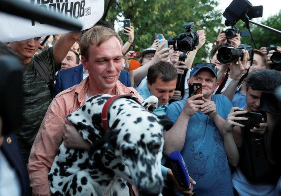 """""""Reuters""""/""""Scanpix"""" nuotr./Į laisvę paleistas Ivanas Golunovas"""