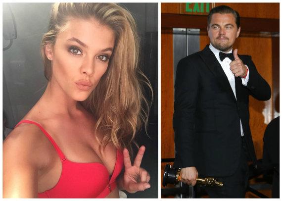 """Instagram"" ir ""Scanpix"" nuotr./Nina Agdal ir Leonardo DiCaprio"