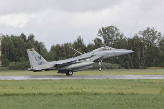 """KAM archyvo nuotr./JAV karinių oro pajėgų naikintuvas F-15C """"Eagle"""""""