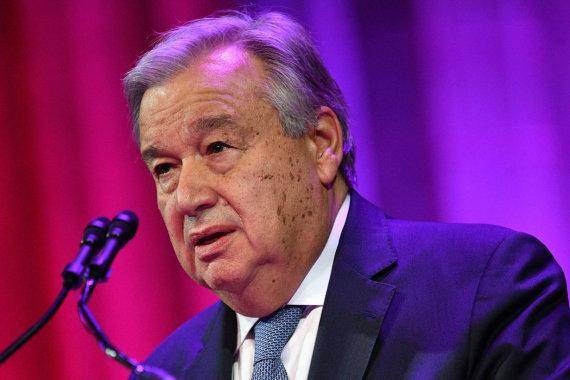 """AFP/""""Scanpix"""" nuotr./Antonio Guterresas"""