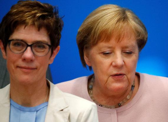 """Reuters""/""Scanpix"" nuotr./Angela Merkel (dešinėje) ir Annegret Kramp-Karrenbauer"