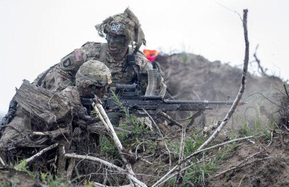 Alfredo Pliadžio nuotr./JAV kariai Lietuvoje