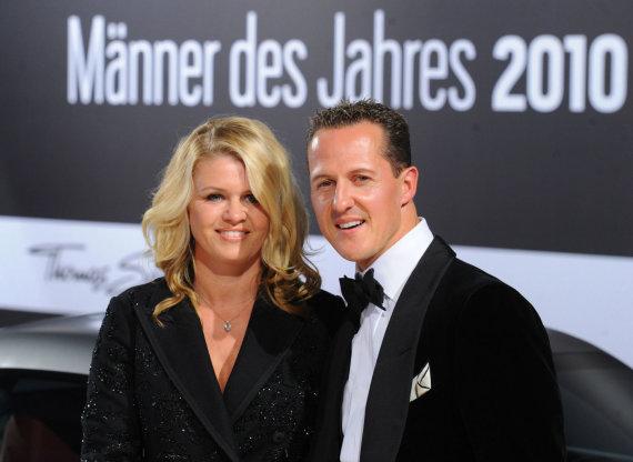 AFP/ Scanpix nuotr/Michaelis Schumacheris su žmona Corinna