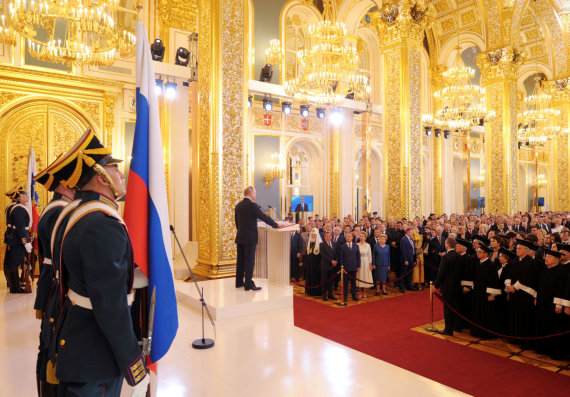 """""""Reuters""""/""""Scanpix"""" nuotr./Prezidento Putino inauguracijos 4-ai kadencijai ceremonija"""