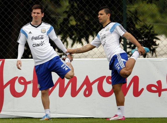 """Reuters""/""Scanpix"" nuotr./Lionelis Messi ir Sergio Aguero"