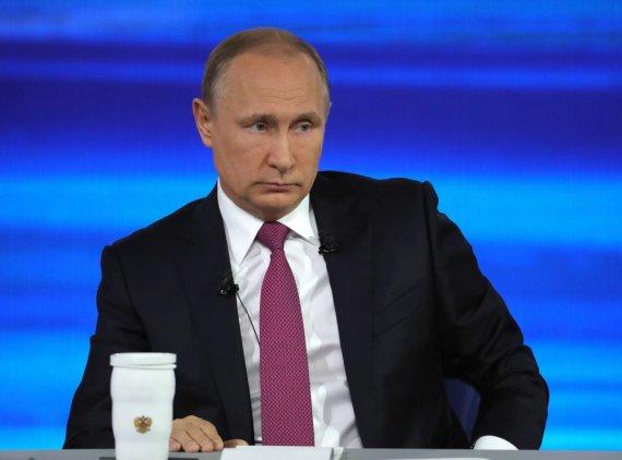 """""""Scanpix""""/AP nuotr./Kasmetinis V.Putino klausimų ir atsakymų maratonas"""
