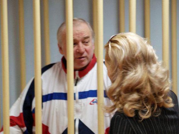 """""""Reuters""""/""""Scanpix"""" nuotr./Sergejus Skripalis teisme Rusijoje"""