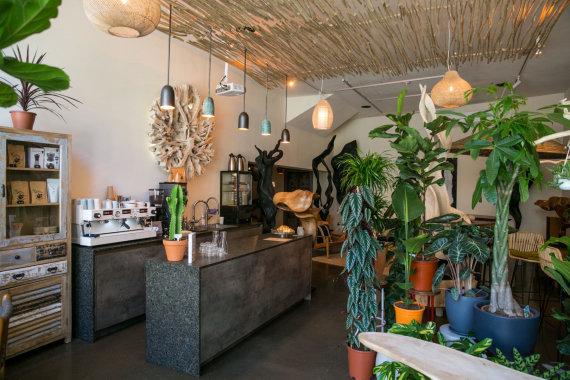 """Juliaus Kalinsko / 15min nuotr./""""Backstage Cafe"""" dalijasi erdve su baldų ir kambarinių augalų parduotuvėmis"""