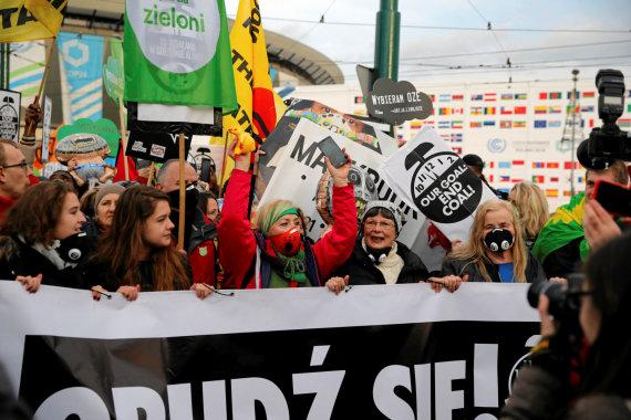 """""""Reuters""""/""""Scanpix"""" nuotr./Klimato eitynės Katovicuose"""