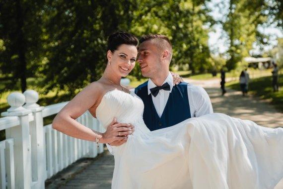 Luko Kodžio nuotr./Gintarės Jarošaitės bei Edgaro Žarskio vestuvių akimirka