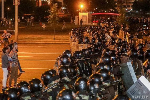 """Reuters""/""Scanpix"" nuotr./Baltarusijoje malšinami protestai"